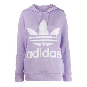 Adidas Lilac Purple Trefoil Logo Hoodie Sweatshirt